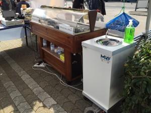 Lavandino portatile per gelaterie